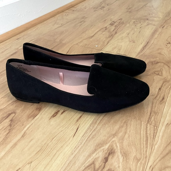 HM black suede loafers size 7